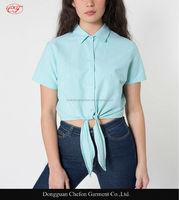 New Oxford mid-length design neck tie-up blouse back neck design