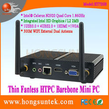 HT720B Intel Celeron N2920 Quad Core 1.86Ghz CPU Fanless Barebone cheap Mini desktop PC