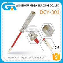 Manufacture Crystal Handle Electrical Test Screwdriver Insulated Voltage Tester