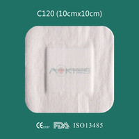 Non-woven medical patch pansement, adhesive wound dressing
