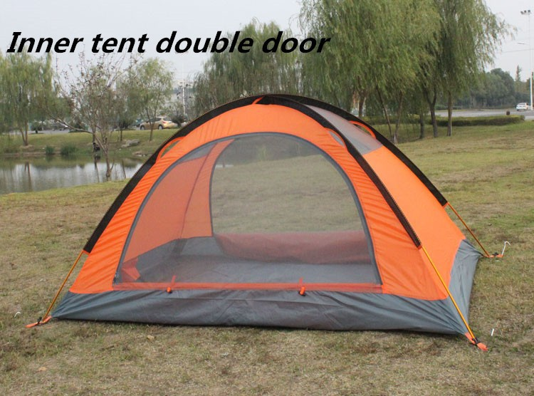 Flytop 4 Seasons tent double layer 2 person aluminum rod ...