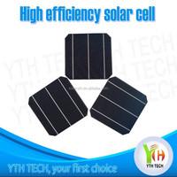 Grade A/B 2BB 3BB monocrystalline 125x125mm 156x156mm 5/6 inch solar cell/solar batteries/solar panel from 3W-4.7W