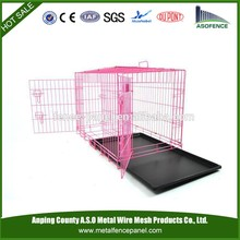 alibaba china manufacture hot sale stainless steel dog cage / pet cage with tray and wheels ( Factory & ISO9001 )