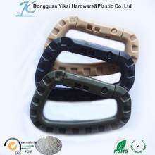 Dongguan YiKai plastic carabiner d shaped,camping hook,69mm big carabiner d ring hook
