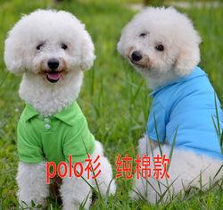 Summer Pure Cotton Elastic Teddy Pet Dog POLO T Shirt Clothing
