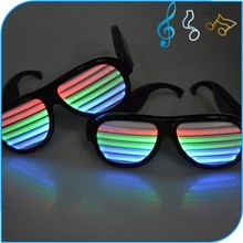 New Products 2015 Hot Sale DropShades Sound Reactive Light Up LED Rave Glasses