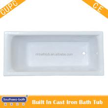 cast iron bath tub with enamel finished interior