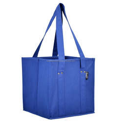 Non-woven shopping tote box with handles
