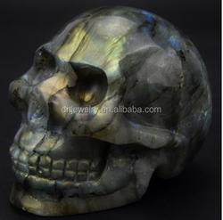 Natural Labradorite Crystal realistic skull crystal healing for decoration