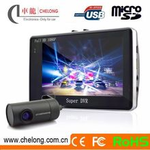 Chelong Newest 4.3inch Android wifi Anti-theft HDR GPRS dual lens car camera with gps