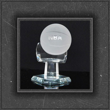 hot sell k9 material crystal trophy with base for NBA awards