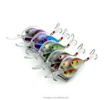 New fishing crank bait 9.7CM 17.1G Wobbler Fishing Bait lure school 3 with 4# Feathered Hooks Fishing Gear