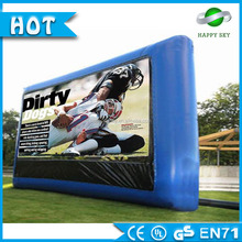 Advertising Inflatables! Christmas decoration used inflatable cinema screen for advertising event to sale