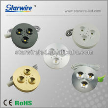 3w LED downlights/LED recessed downlights with 15/30/60 beam angle