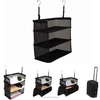 Fashion 3 Compartments Storage Shelves Casual Polyester Foldable Travel Bag Accessories Hanging Clothes Organizer For Travel