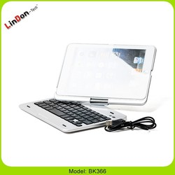 Rotating case bluetooth keyboard for ipad mini 2 case