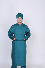 hospital long sleeves green surgical gown