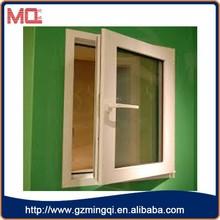 cheap price plastic single pane casement window/double glass window for sale
