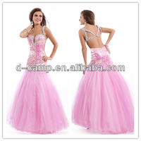 OC-2462 Stunning drop waist open back latest long night dress gown sexy ling sexy long gown & sexy dress