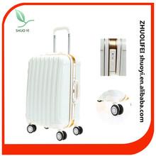 Durable abs pc 4 wheel wedding luggage case