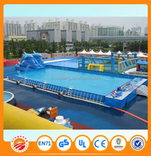 Used large above ground adult inflatable swimming pool for sale