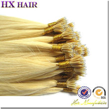 Prebonded hair factory,wholesale price unprocessed remy nano ring hair