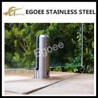 China supplier ss304 spigot glass,balcony railing clamps