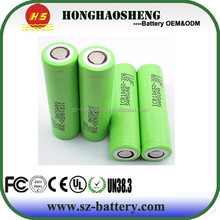 Cylindrical 18650 high capacity 3400mah 3.7V li-ion battery 3400mah rechargeable lithium ion battery with protected