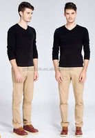 wholesale mens knitted cotton multi-color long sleeve couples t-shirt