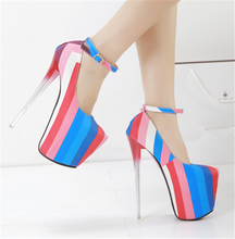 VT306 Wholesale women mixed color big size sexy pencil high heel shoes