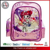 Lovely Girl Picture School Bags Kids Cartoon Picture of Custom School Bag for Primary Students