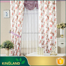 Made in China Home decor Luxury Polyester new design digital print curtains