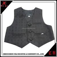 Men cheap good material new design plain waistcoat vest black