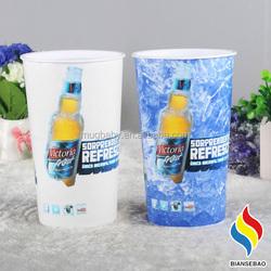 Singel wall plastic customized beer mugs magic mugs