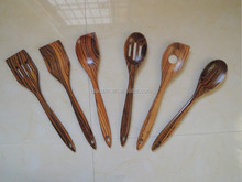 100% Original Ecology , Zebra wood cooking utensil set,cooking utensil