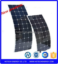 high efficiency light weight 102w semi flexible solar panels prices