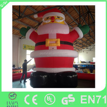 Giant inflatable santa claus for outdoor christmas decoration