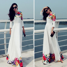 Sexy Long Chiffon Formal Lace Party Cocktail Evening Prom Wedding maxi Dress