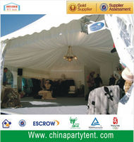 luxury pagoda tent for wedding with curtains and linings