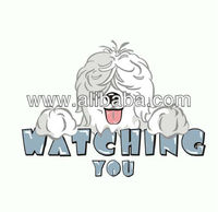 Watching you PUFF HEAT TRANSFER for kids t-shirt