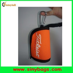 High quality golf ball pouch with a hook, golf ball holder, golf ball case