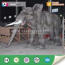 Theme park lifelike animatronic decorative elephant statues