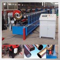 downspout stee production line water downpipe machine downspout roll forming machinery manufacturer in China