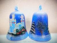 Novel design Stock Christmas ornaments Glass Candle Holder