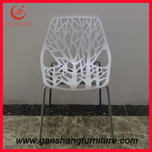 Modern house design stainless steel chairs carved dining chair plastic chair