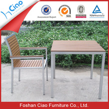 Aluminum dining table and chair set rattan garden furniture