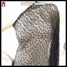 European style lace fabric for lace black dresses