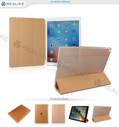 Transparent hard pc cover smart tablet case for ipad pro accept paypal