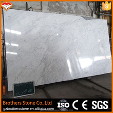 Polished floor tiles Italy white carrara marble prices in guangzhou