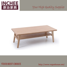 INCHEE FURNITURE,CT306,Modern Double Layer Natural Wooden Coffee Table